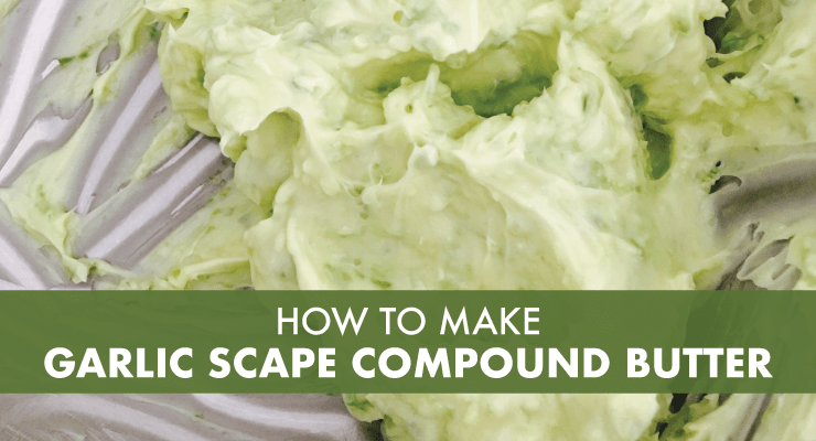 How to Make Garlic Scape Compound Butter