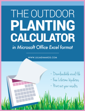 Outdoor Planting Calculator (Microsoft Excel Version)