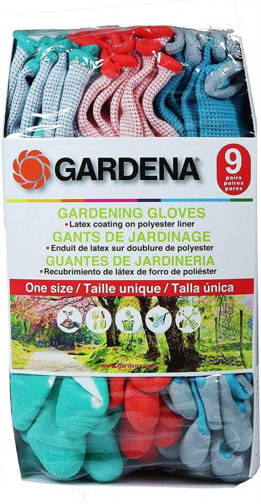 Gardenia Gardening Gloves - Pack of 9 pairs of gardening gloves